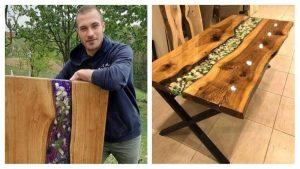 Kladuščanin Dženail Rekić izrađuje epoxy stolove za evropsko tržište
