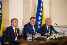 Članovi Predsjedništva BiH sa ambasadorima Evropske unije u BiH