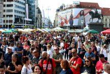 Više stotina ljudi protestovalo u Zagrebu zbog mjera protiv korona virusa